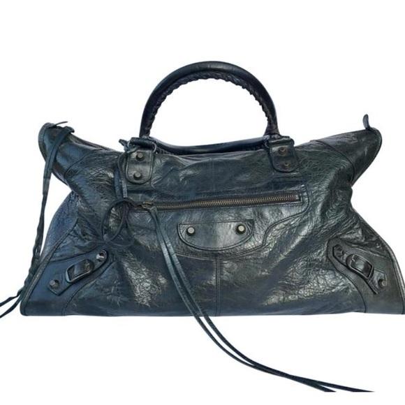 7e00292be00 Balenciaga Classic Work Bag Black Leather Satchel